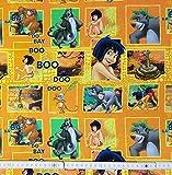 50 cm Baumwolljersey Jersey Disney Das Dschungelbuch orange Stoff Meterware