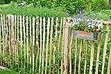 STILTREU Staketenzäune Staketenzaun Kastanie Höhen 50 cm - 200 cm, 5 Meter Rolle, 3 Versch. Lattenabstände
