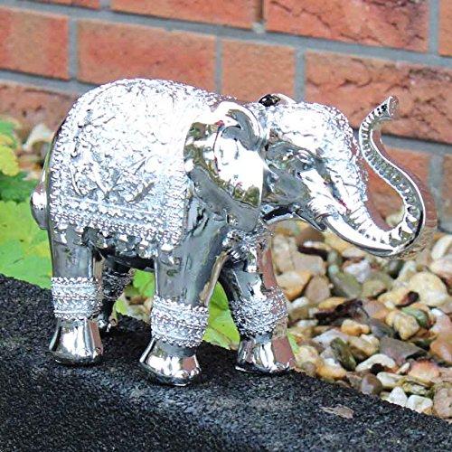 Figura decorativa de plata de la escultura de peluche de 28 cm