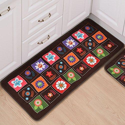 Felpudos de Baño esteras de gamuza felpudo cocina larga alfombra anti