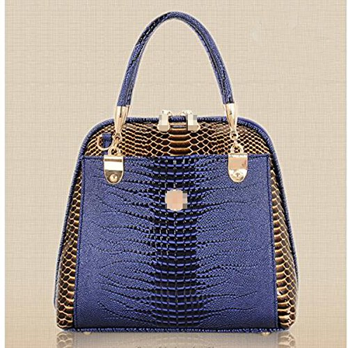 Borsa A Tracolla In Pelle Multicolore Blue