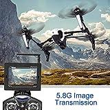 Kingtoys® WLtoys Q333A FPV Drohne mit Kamera und Bildschirm 5.8G Live Übertragung Monitor 2MP HD Cam Headless Modus inkl. 4G Speicherkarte, weiß