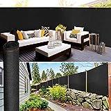 IDMarket - Brise Vue renforcé 1,8 x 10 m Noir 220 GR/m² Luxe Pro
