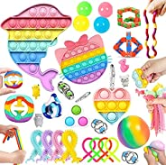 30 Pcs Sensory Relief Toy Set Cheap, Fidget Toys Set For Kids Stress And Anxiety Relief Fidget Toys, Cheap Fid