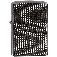 Zippo Armor Cross Wave Ridge Windproof Pocket Lighter - High Polished Black Chrome
