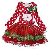 hibote Le ragazze Christmas Party Dress Tutu bambini regalo di natale 120 centimetri
