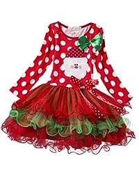 hibote Regalo de Navidad para niños fiesta de Navidad de las muchachas del vestido del tutú