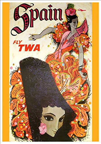 twa-spain-wonderful-a4-glossy-art-print-taken-from-a-rare-vintage-travel-poster
