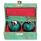 VERY100Baoding bolas chinas salud ejercicio bolas de estrés bolas de 40mm–cromo Color Chi con caja
