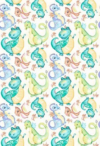 Muzi Photography Hintergrund Cartoon Dinosaurier Thema Hintergrund Neugeborene Baby Mädchen Geburtstag Party Foto Booth Artistic Hochformat Digital Video Drop für Studio Prop 150x 220cm xt-6634