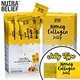 Nutra Belief Daily Edible Collagen Peptides Jelly Supplement, Better Than Gummies, Boosts Natural Skin Growth Elasticity and Revitalization With Aloe Vera Gel and Manuka Honey