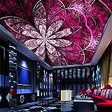 LANYU Papier Peint Salon Plafond De L'Hôtel Fond Papier Peint Rouge Et Luxe Style Européen Papier Peint