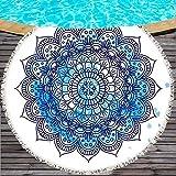 SKKMALL - Toalla Redonda para Playa, Mandala, Estampada, Yoga, con Manta,
