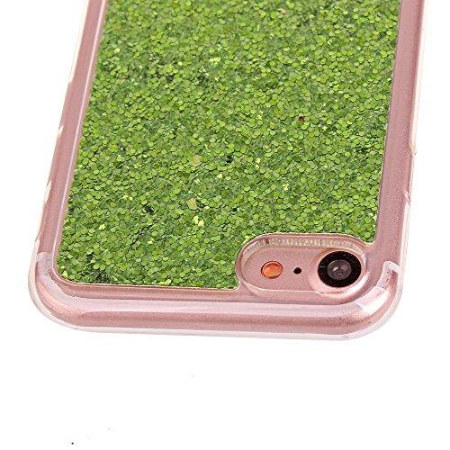 Glitzer Hülle für iPhone 6S,iPhone 6 Hülle,iPhone 6 Hülle Transparent Crystal Bling Glitzer Flüssig Case Hülle Klare Ultradünne Plastik Gel Schutzhülle für iPhone 6S / 6 4.7 Zoll,EMAXELERS iPhone 6S H A TPU 3