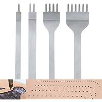 Malayas 4Pcs 4mm DIY Cuir Kit Outils Perforatrice Artisanat du Cuir Griffe Perforateur Trou Couture Diamant Laçage