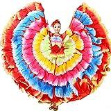 Photo de ZYLL Danse du Ventre Grandes Jupes, Danse tauromachie Jupe Grande balançoire Jupe Costume Costume Costume Danse espagnole tauromachie Jupe Costume de Danse Robes par ZYLL