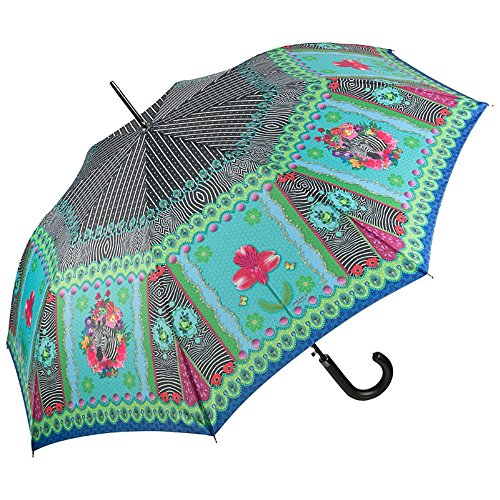 Von LILIENFELD Parapluie Automatique Femme Motif Art Floral Animal Eva Maria Nitsche: Zebra´s Garden
