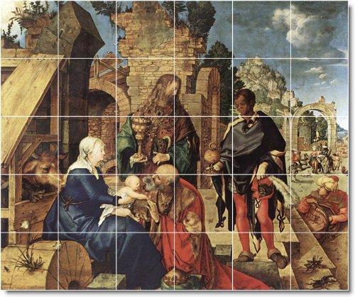 ALBRECHT DURER RELIGIOSO BALDOSA CERAMICA MURAL 3  60X 182 88CM CON (30) 12X 12AZULEJOS DE CERAMICA
