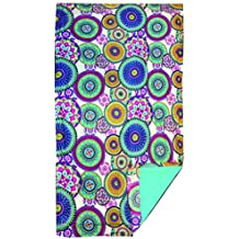 Textil Tarragó Circulos Toalla Pareo para Piscina, Poliéster, 27x38x3 cm
