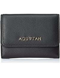 Aquatan Women's The Famous Flap Over Leather Wallet Black AT-W-53
