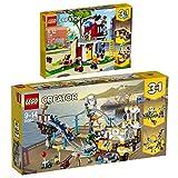 Lego Creator 2er Set 31084 31081 Piraten-Achterbahn + Umbaubares Freizeitzentrum