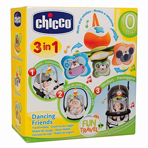 Chicco- Gioco Passeggio Dancing Friends Giostrina Giostra Prima Infanzia 820, Multicolore, 8003670718819