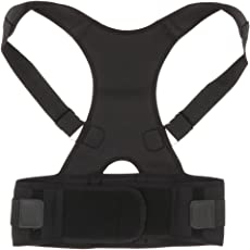 Segolike Adjustable Adult Women Men Back Posture Corrector Belt Lumbar Shoulder Corrective Correcting Support Brace Pain Fatique Therapy - Black White Pink S M L XL XXL