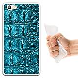 WoowCase Doogee Y300 Hülle, Handyhülle Silikon für [ Doogee Y300 ] Tier Haut des blauen krokodil Handytasche Handy Cover Case Schutzhülle Flexible TPU - Transparent