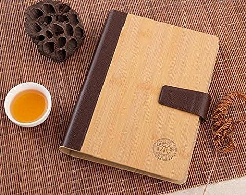 DZW haut de gamme nouveau élégant cahier en bois A5 retro notebook création tendance , cream colored