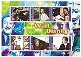Walt Disney für Sammler Briefmarkenbogen mit 6 postfrische Briefmarken - klassische Fotografien - 2002 / Kongo