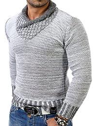 Tazzio tz-3978Veste de Pull d'hiver en tricot épais