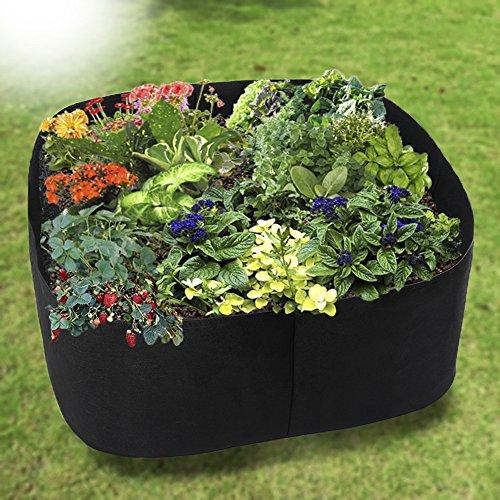 Firlar Garten, Pflanzen Belüftung Stoff Container, Hochbeet, Tasche Erhöhtes Hundebett, Stoff wachsen Töpfe, Hochbeete, Staubbeutel für Pflanzen Wachsen–alle Größe (Blumen-bett In Einem Beutel)