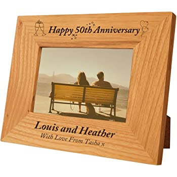 Engraved 50th Wedding Anniversary Gift Idea Special 50th Wedding