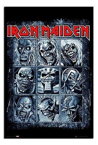 Iron Maiden Verwirbelungen Poster Satin Matt Laminiert - 91,5 x 61cms (36 x 24 Zoll)
