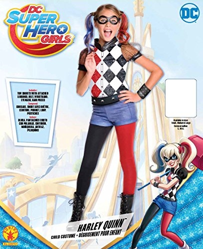 Imagen de rubie's  disfraz para niñas de la superheroína harley quinn, producto oficial de dc alternativa