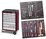 Assistent Werkstatt mit 8 Schubladen 104 COMPLETO Werkzeug EVA3 HIGHTECH KRAFTWERK