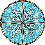 Aufkleber Pool * Sticker Swimmingpool * Poolaufkleber * Unterwasser * Windrose 60 cm * 12