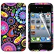 Gadgeo Multi Colour Jellyfish Design Gel Silicone TPU Case Cover for Apple iPhone 4 & 4S with Screen Protector and Cleaning Cloth