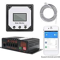 Onepeak Régulateurs de charge de batterie solaire automatique de contrôleur de charge de panneaux solaires de surveillance de 20A 12V App