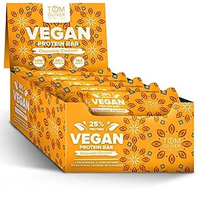 Tom Oliver Nutrition - Vegan High Protein Bars - Pack of 20 by Tom Oliver Nutrition