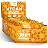 Tom Oliver Nutrition - Vegan High Protein Bars - Pack of 20 (Chocolate Caramel)