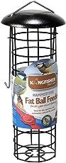 Kingfisher Premium Hammerschlaglackierung Fat Ball Feeder Futterspender für Vögel