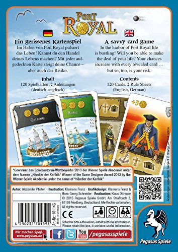 Pegasus-Spiele-Juego-de-cartas-de-2-a-4-jugadores-importado