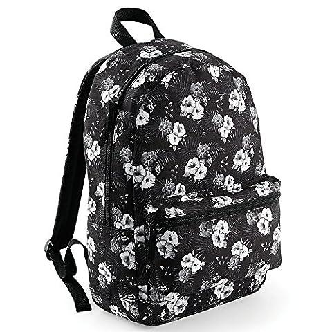 EQT-FASHION Sommer Schul Rucksack weiß Blumen Schule Uni Ranzen Tasche Sport Damen Frauen Backpack