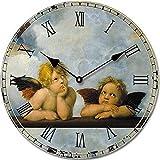 Tinas Collection Wanduhr im Engel Design, 30 cm Ø