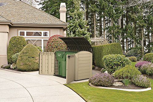 Keter Store It Out Ultra Outdoor Plastic Garden Storage Shed, 177 x 113 x 134 cm – Beige and Brown