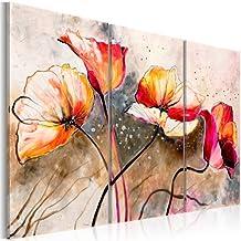 murando® Cuadro en Lienzo Grande Formato Impresion en calidad fotografica! Cuadro en lienzo tejido-no tejido 3 partes flores 22353 120x80 cm