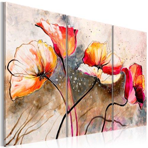 BD XXL murando – Impression sur toile 120x80 cm - 3 pieces - Image sur toile - Images - Photo - Tableau - motif moderne - Décoration - tendu sur chassis - Fleurs 22353