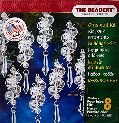 Holiday Beaded Ornament Kit-Irridescent Bubbles Makes 8 -