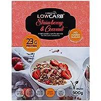 Muesli low carb di CarbZone   Muesli di cereali al cocco e fragola   Snack senza glutine e bio - 500 g